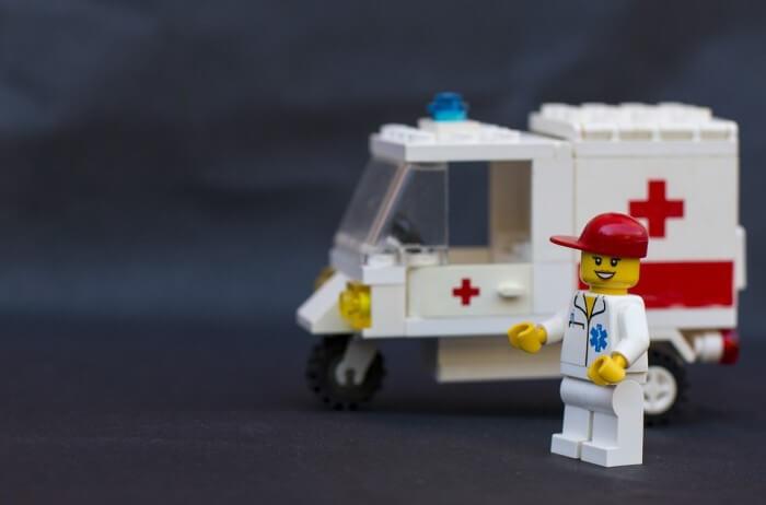 救急車のレゴ